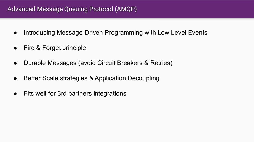 Advanced Message Queuing Protocol (AMQP) ● Intr...