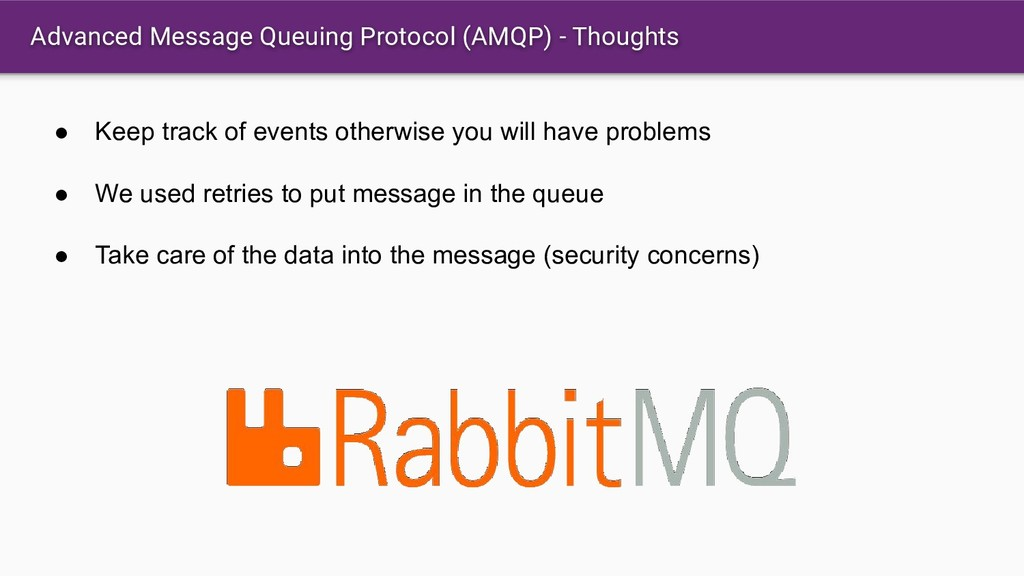 Advanced Message Queuing Protocol (AMQP) - Thou...
