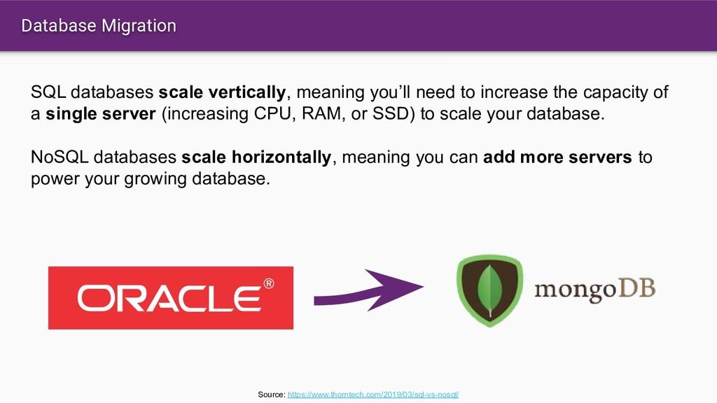 Database Migration SQL databases scale vertical...