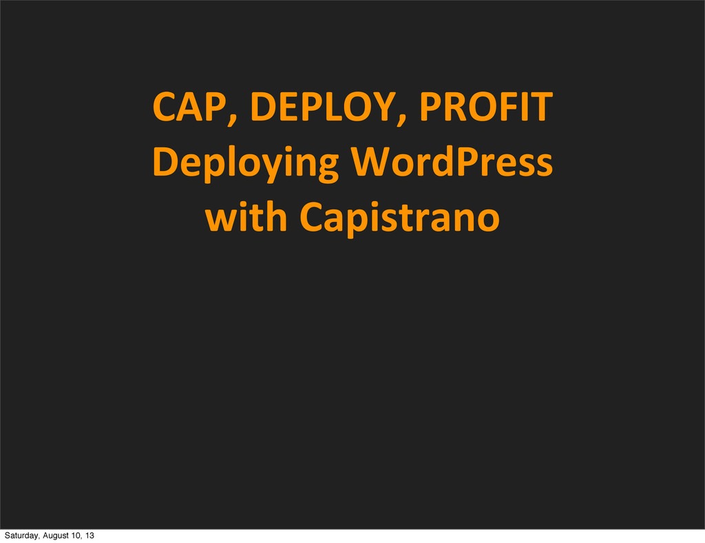 CAP,	