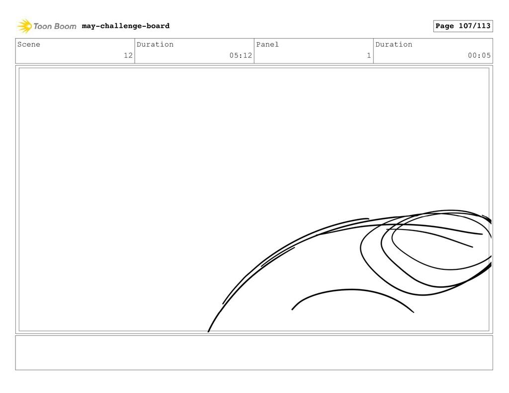 Scene 12 Duration 05:12 Panel 1 Duration 00:05 ...
