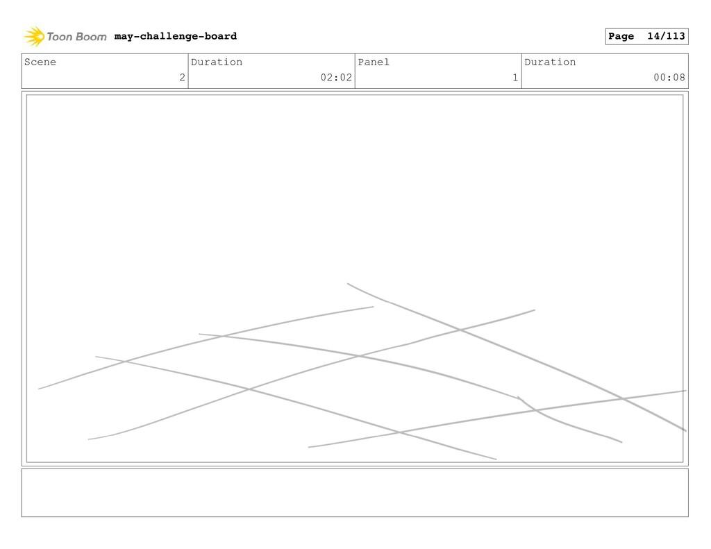 Scene 2 Duration 02:02 Panel 1 Duration 00:08 m...
