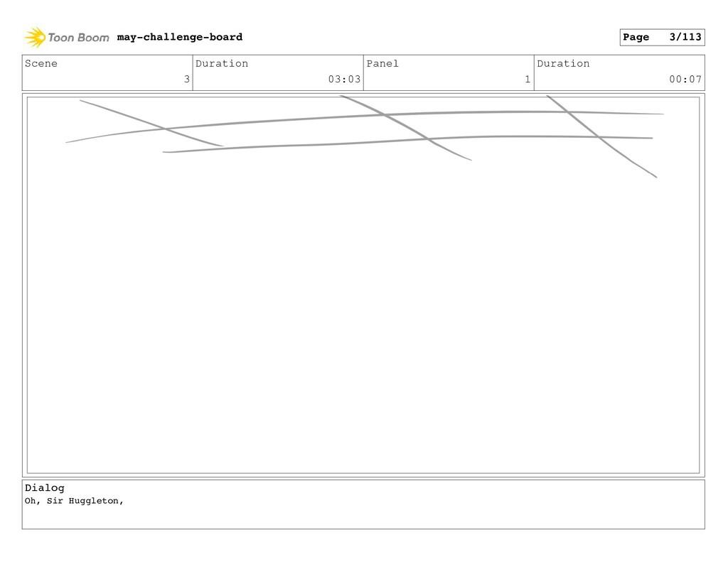 Scene 3 Duration 03:03 Panel 1 Duration 00:07 D...