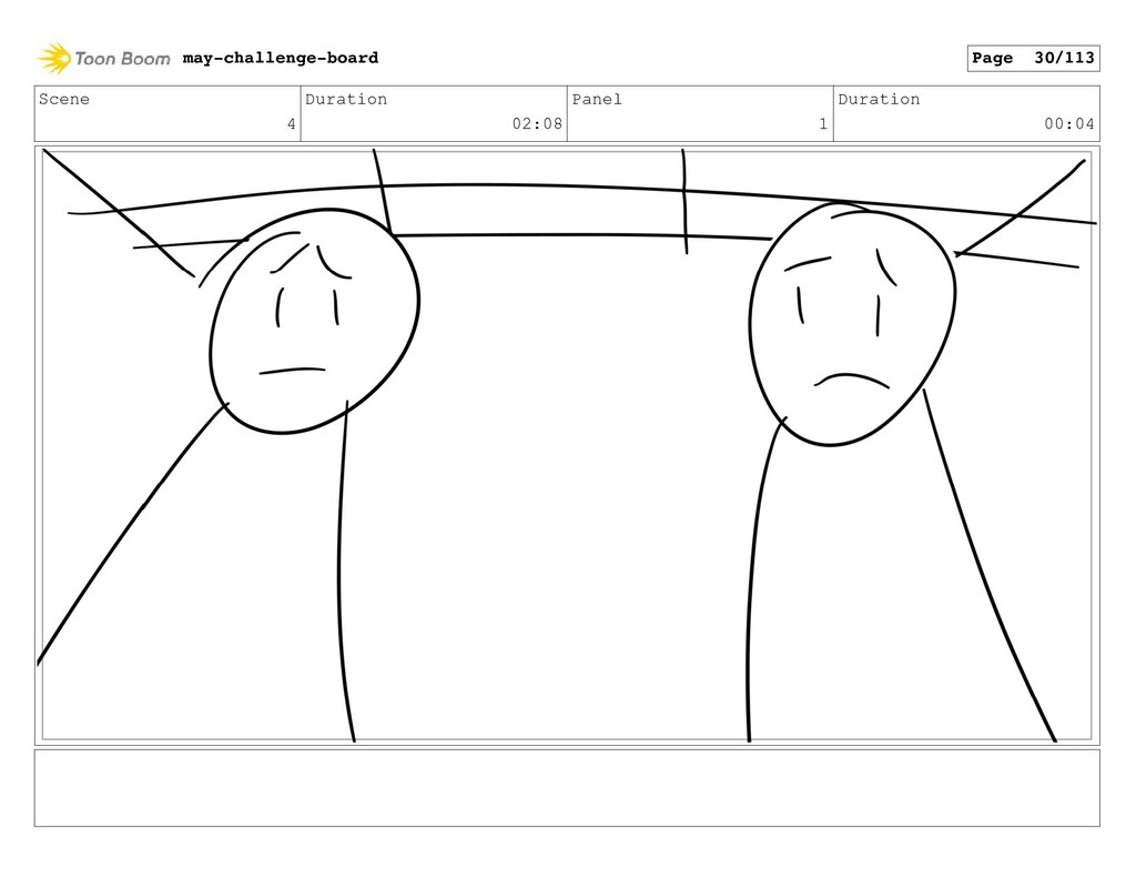 Scene 4 Duration 02:08 Panel 1 Duration 00:04 m...