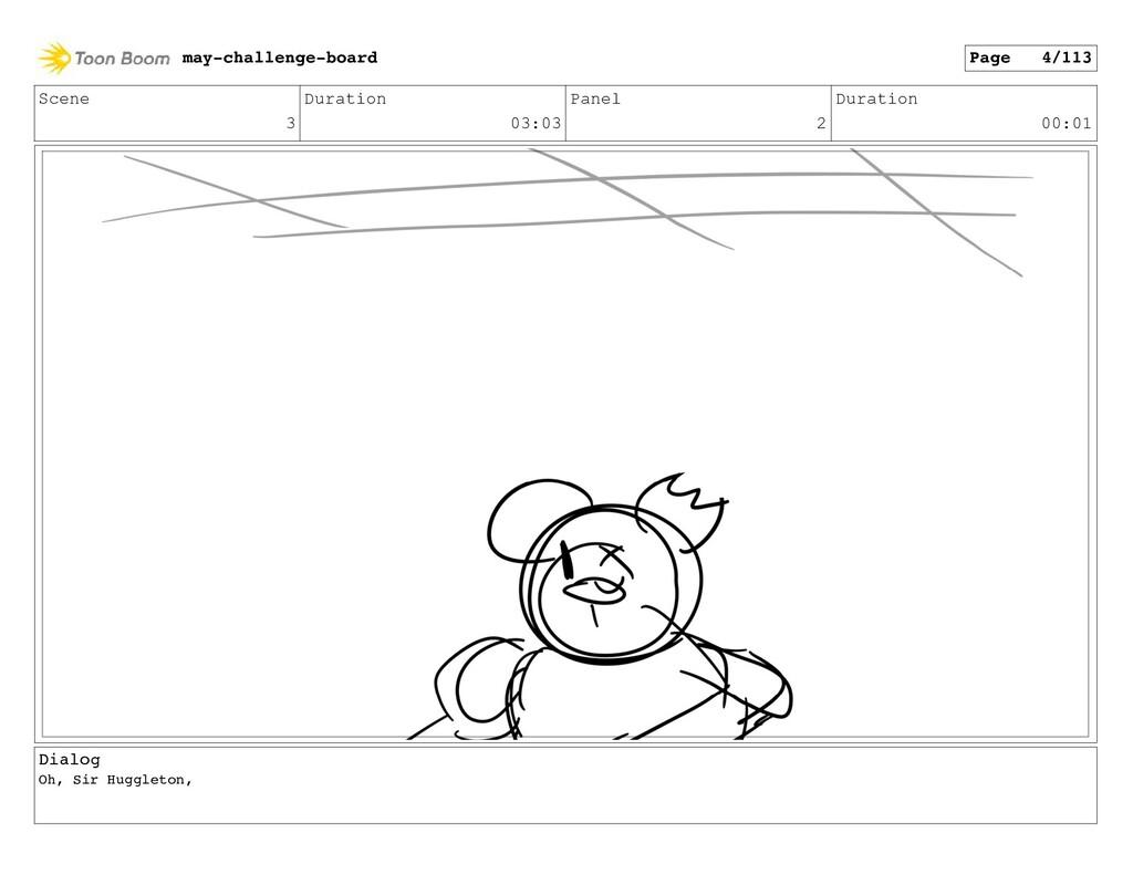 Scene 3 Duration 03:03 Panel 2 Duration 00:01 D...