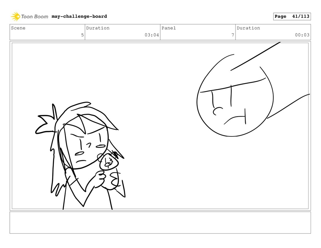 Scene 5 Duration 03:04 Panel 7 Duration 00:03 m...