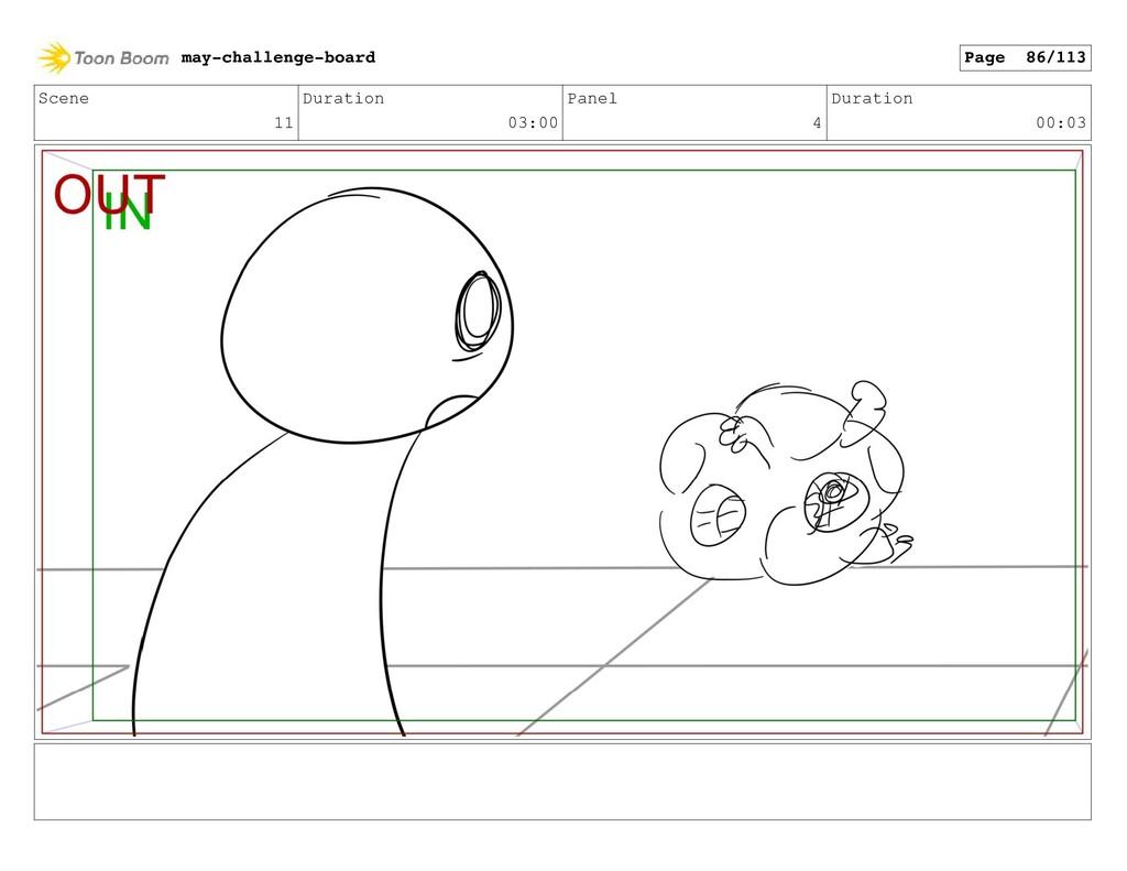 Scene 11 Duration 03:00 Panel 4 Duration 00:03 ...