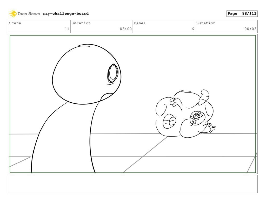 Scene 11 Duration 03:00 Panel 6 Duration 00:03 ...