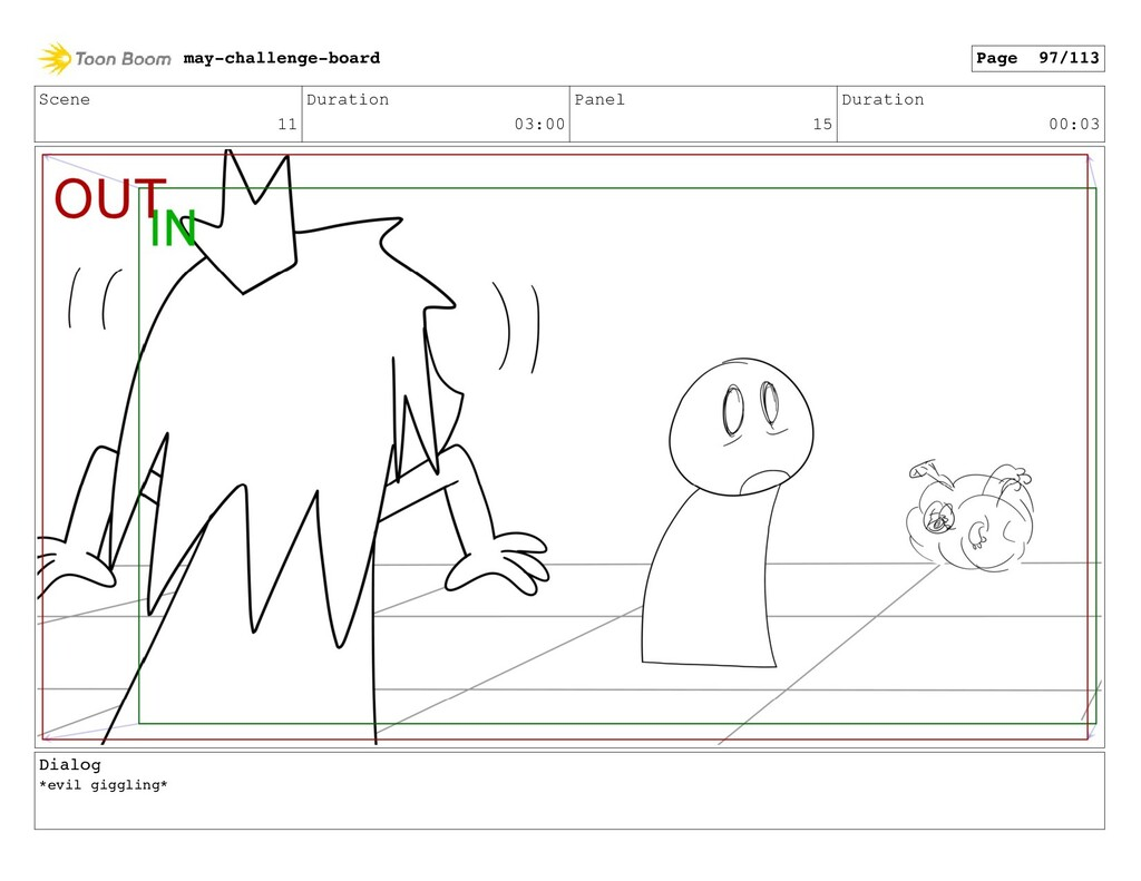 Scene 11 Duration 03:00 Panel 15 Duration 00:03...