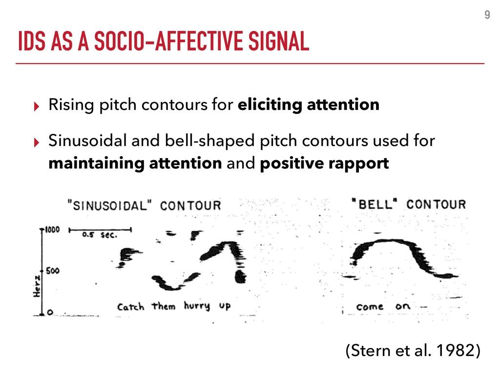 IDS AS A SOCIO-AFFECTIVE SIGNAL 9 ▸ Rising pitc...