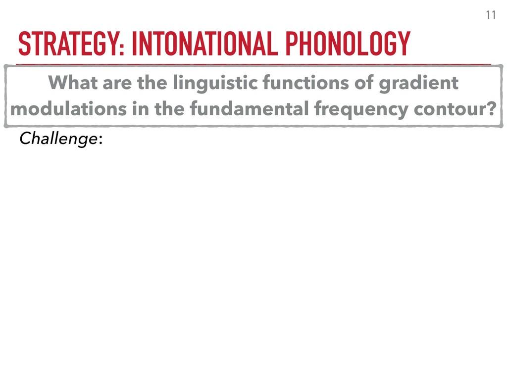 STRATEGY: INTONATIONAL PHONOLOGY 11 Challenge: ...