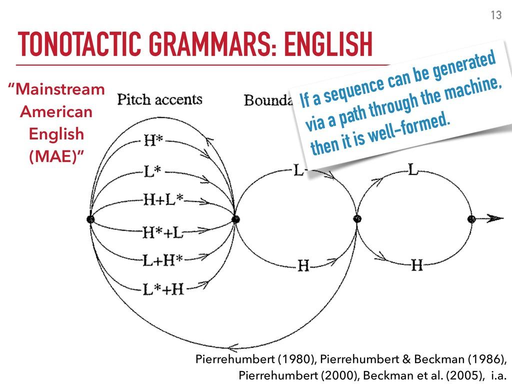13 TONOTACTIC GRAMMARS: ENGLISH Pierrehumbert (...