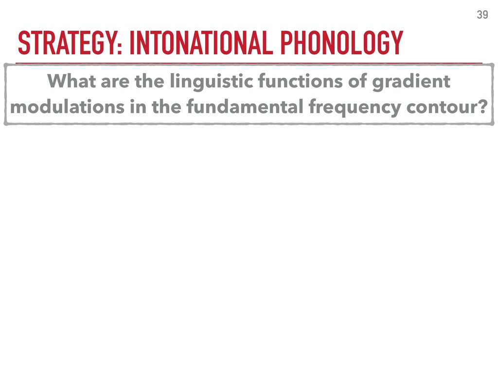 STRATEGY: INTONATIONAL PHONOLOGY 39 What are th...