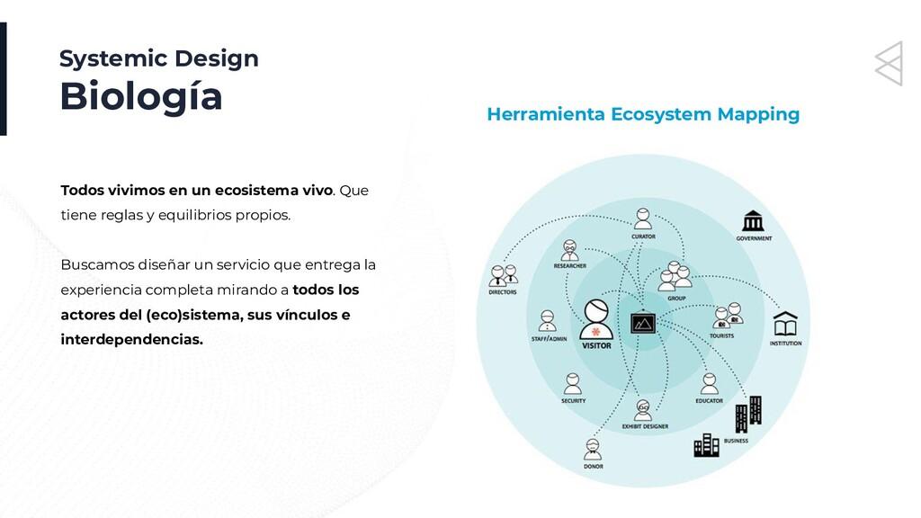 Systemic Design Biología Todos vivimos en un ec...