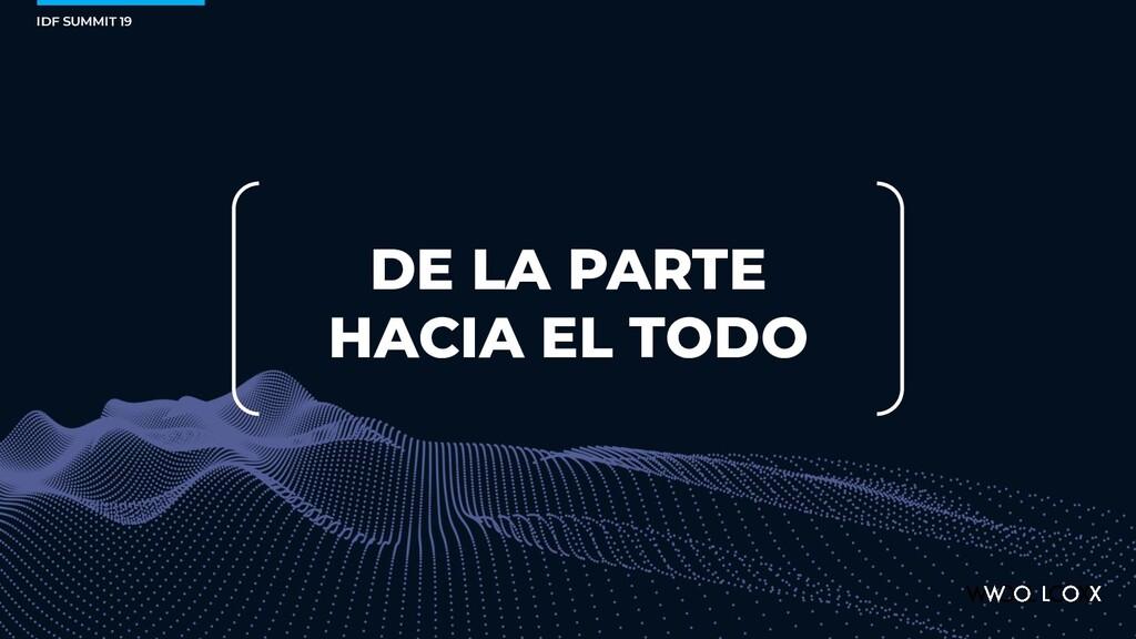 IDF SUMMIT 19 DE LA PARTE HACIA EL TODO