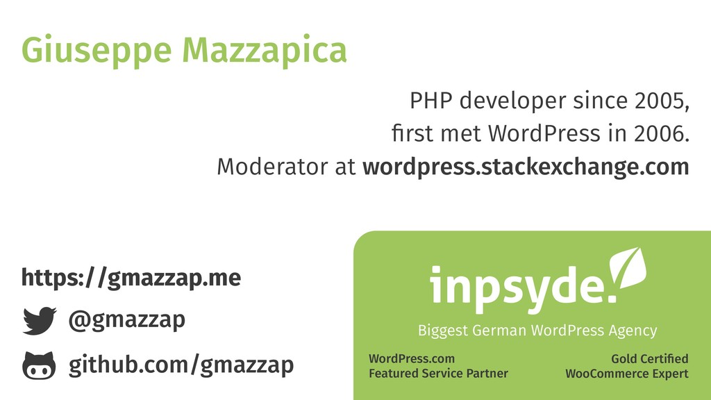 PHP developer since 2005, first met WordPress in...