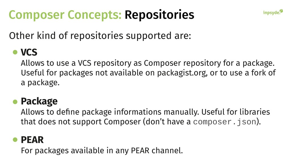 Composer Concepts: Repositories Other kind of r...