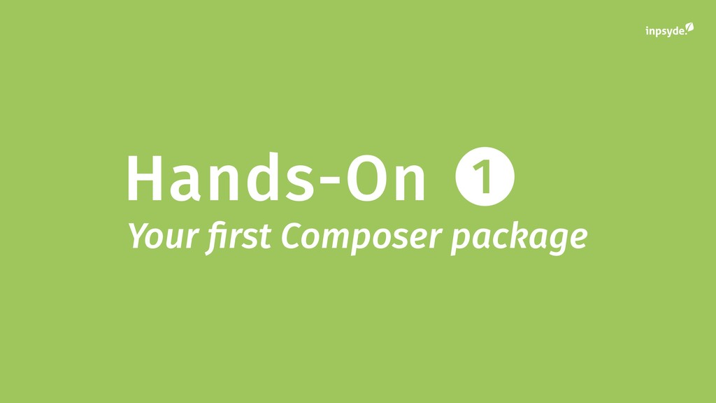 Hands-On 1 Your first Composer package