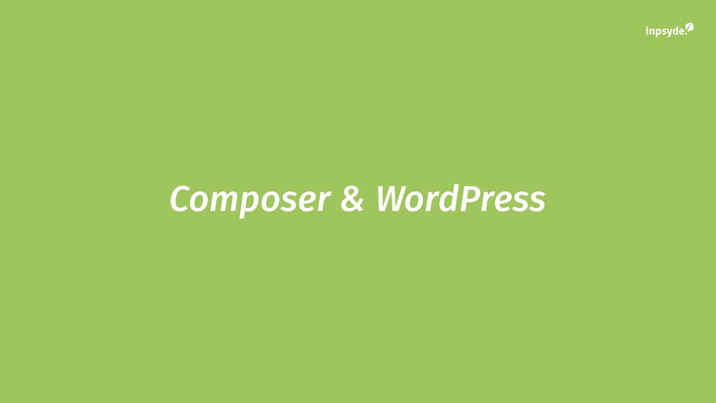 Composer & WordPress
