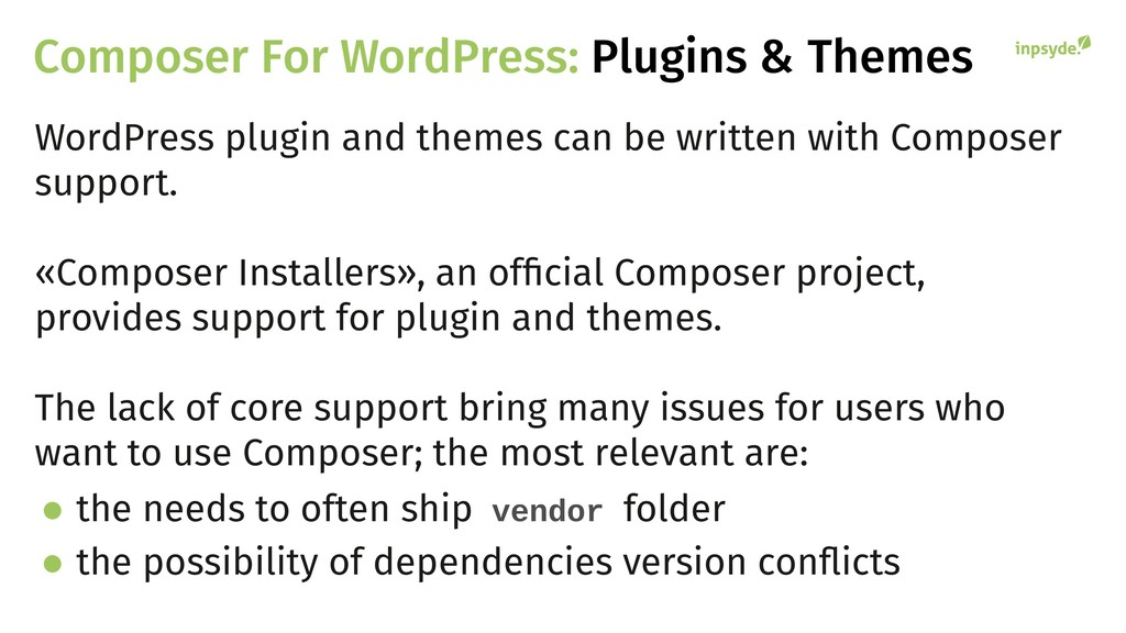 Composer For WordPress: Plugins & Themes WordPr...