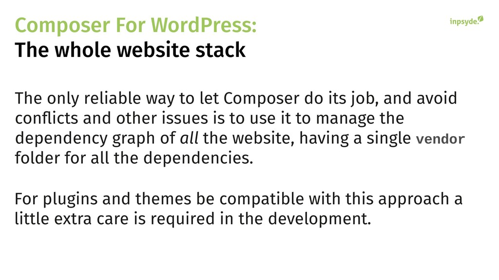 Composer For WordPress: The whole website stack...