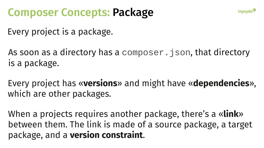 Composer Concepts: Package Every project is a p...