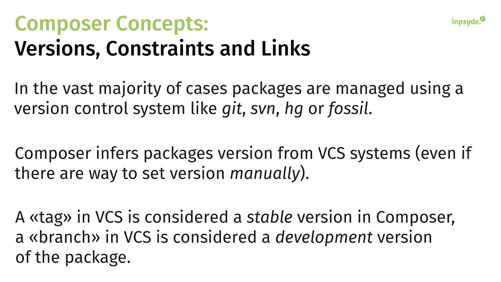 Composer Concepts: Versions, Constraints and Li...