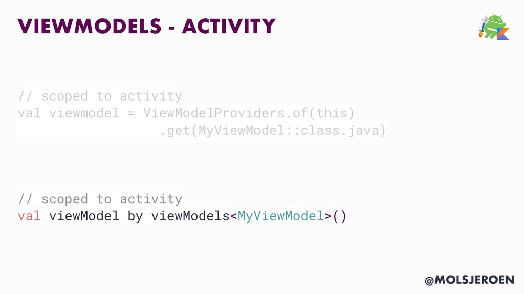 @MOLSJEROEN VIEWMODELS - ACTIVITY // scoped to ...