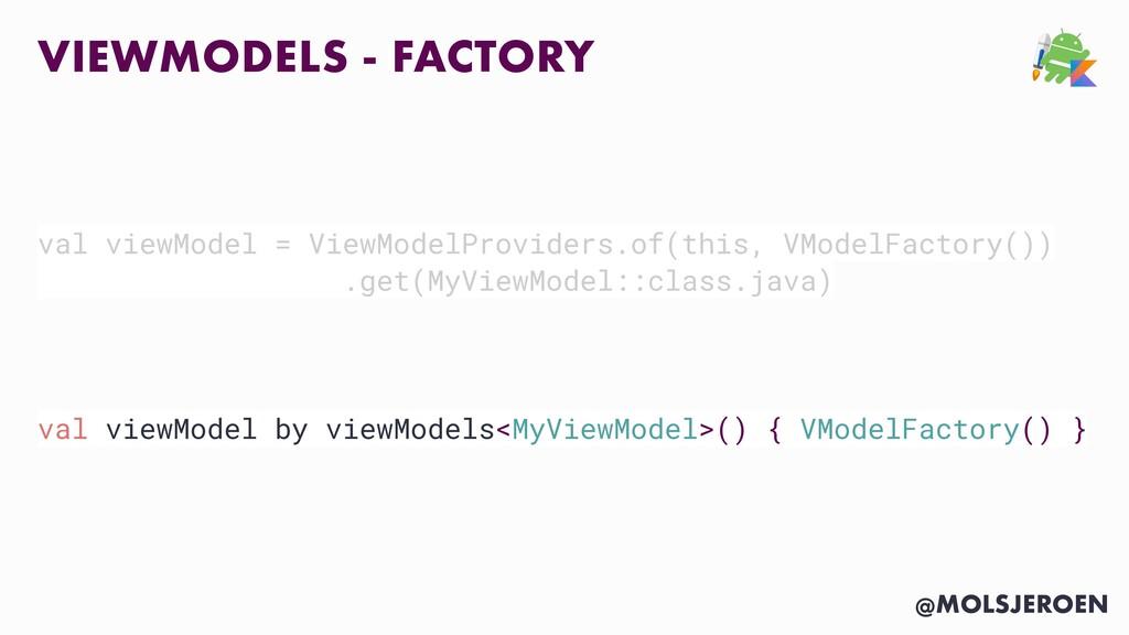 @MOLSJEROEN VIEWMODELS - FACTORY val viewModel ...