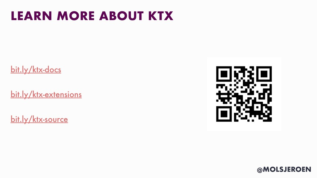 @MOLSJEROEN LEARN MORE ABOUT KTX bit.ly/ktx-doc...