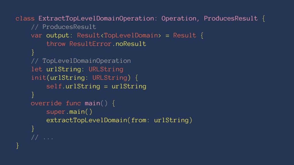 class ExtractTopLevelDomainOperation: Operation...