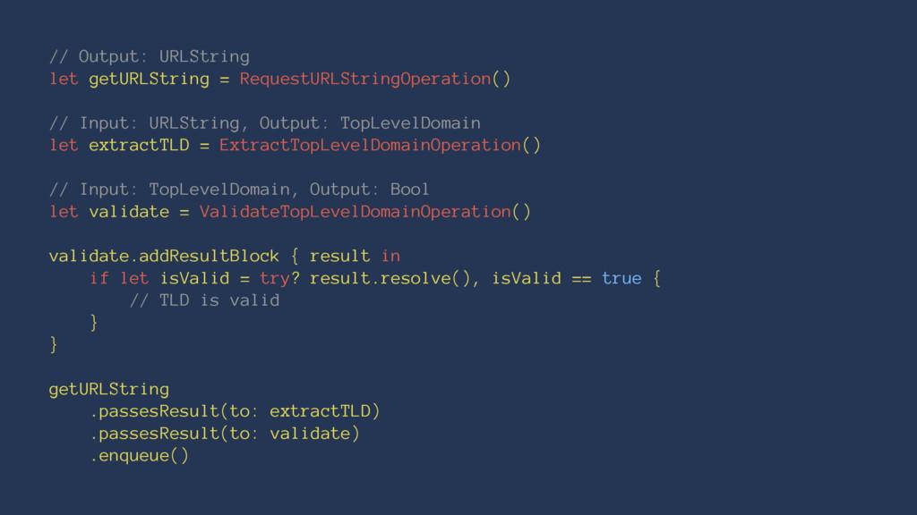// Output: URLString let getURLString = Request...