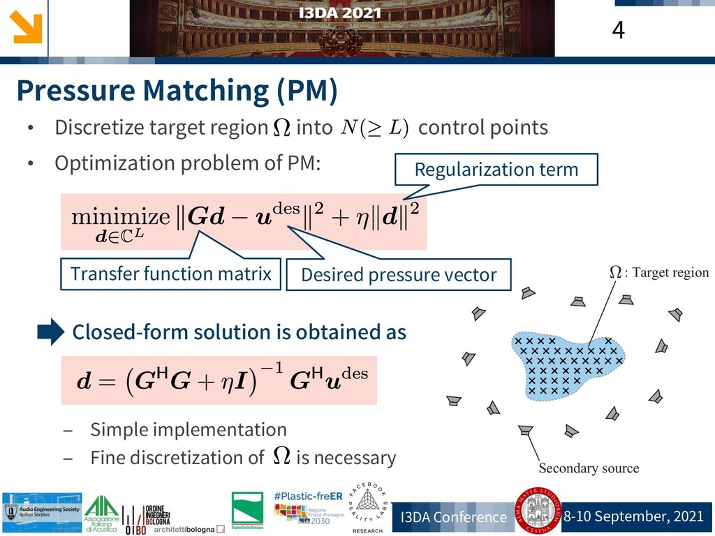 8-10 September, 2021 I3DA Conference 4 Pressure...
