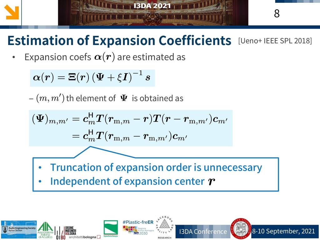 8-10 September, 2021 I3DA Conference 8 Estimati...