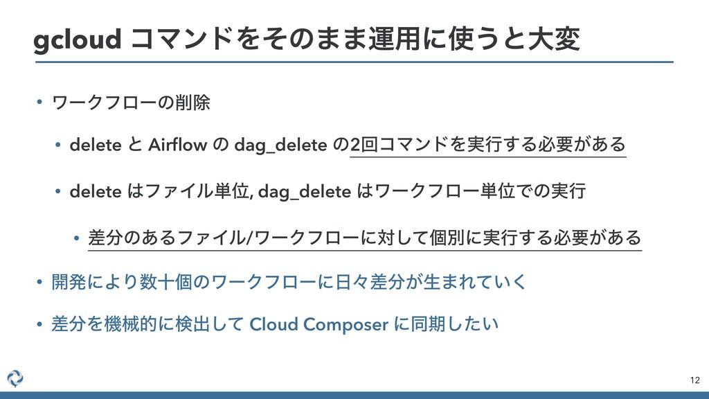 • ϫʔΫϑϩʔͷআ • delete ͱ Airflow ͷ dag_delete ͷ2ճί...