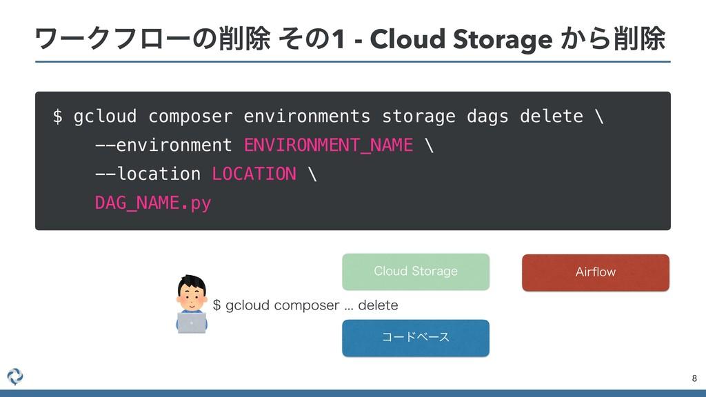 ϫʔΫϑϩʔͷআ ͦͷ1 - Cloud Storage ͔Βআ $ gcloud com...