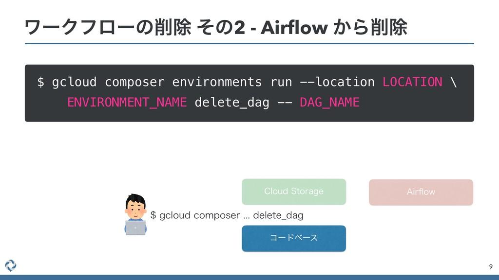 ϫʔΫϑϩʔͷআ ͦͷ2 - Airflow ͔Βআ $ gcloud composer e...
