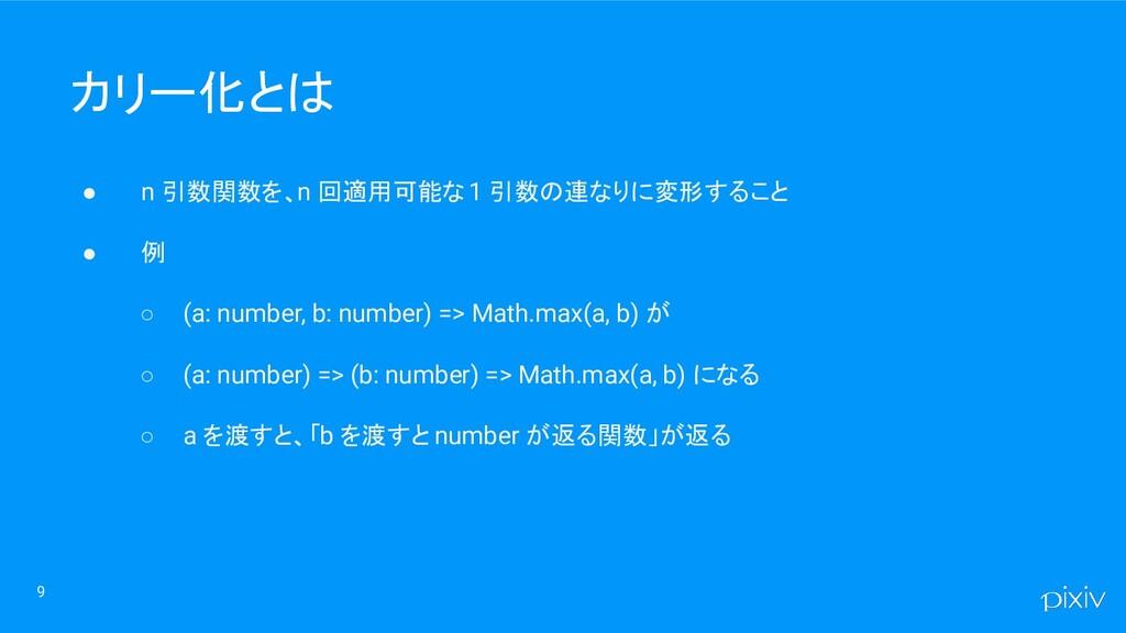 ● n 引数関数を、n 回適用可能な 1 引数の連なりに変形すること ● 例 ○ (a: nu...