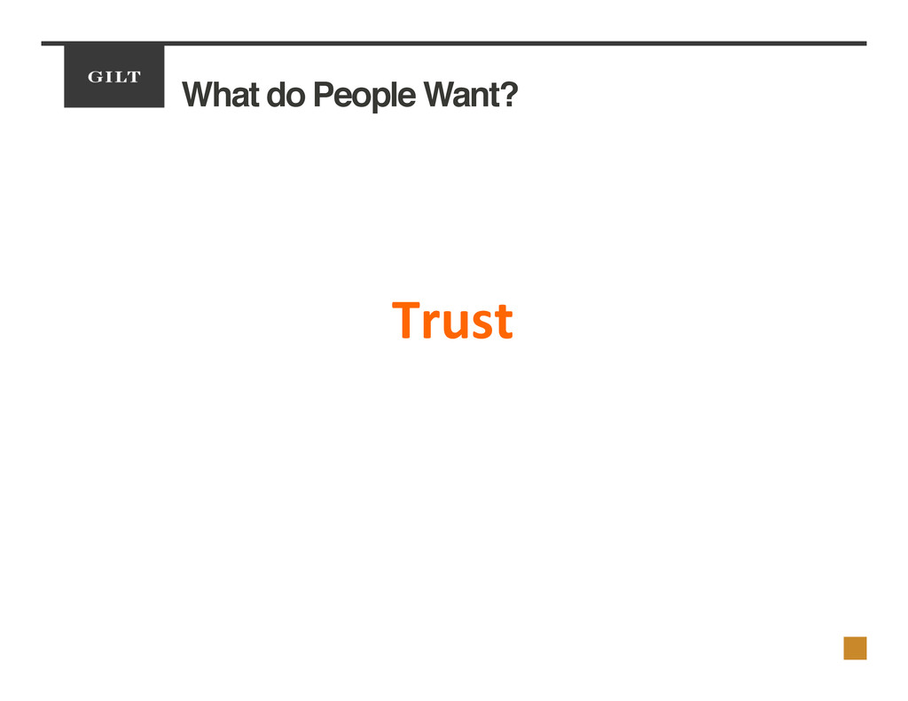 What do People Want?! 	