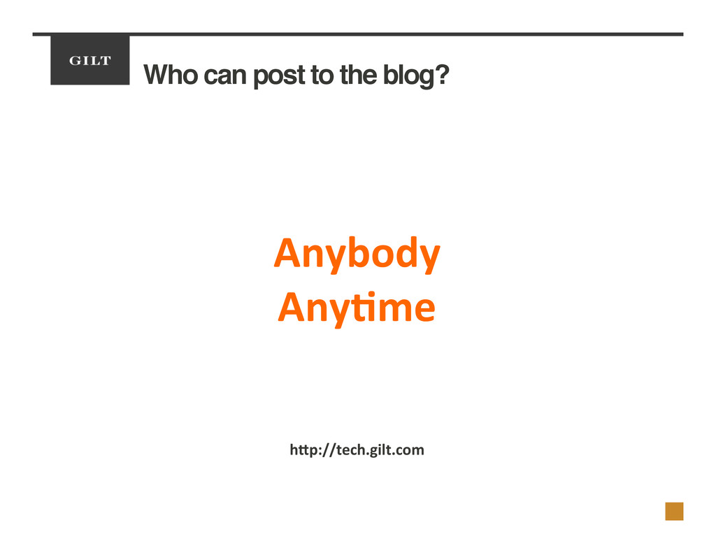 Who can post to the blog?! 	