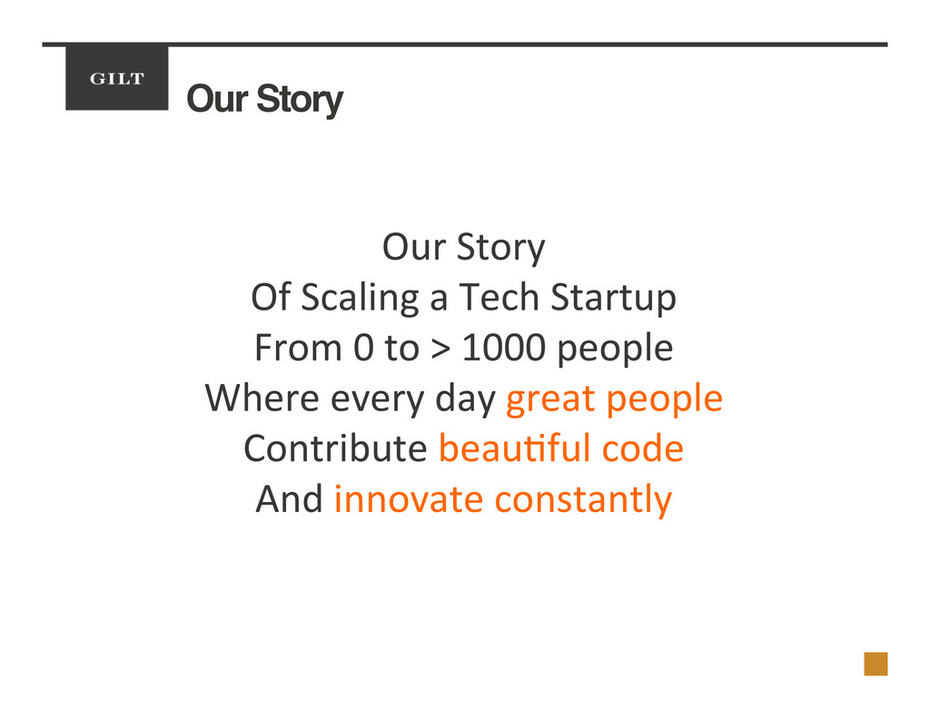 Our Story! Our	