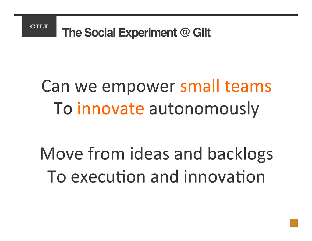 The Social Experiment @ Gilt! Can	