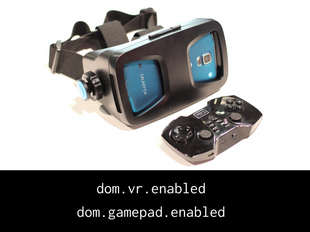 dom.vr.enabled dom.gamepad.enabled