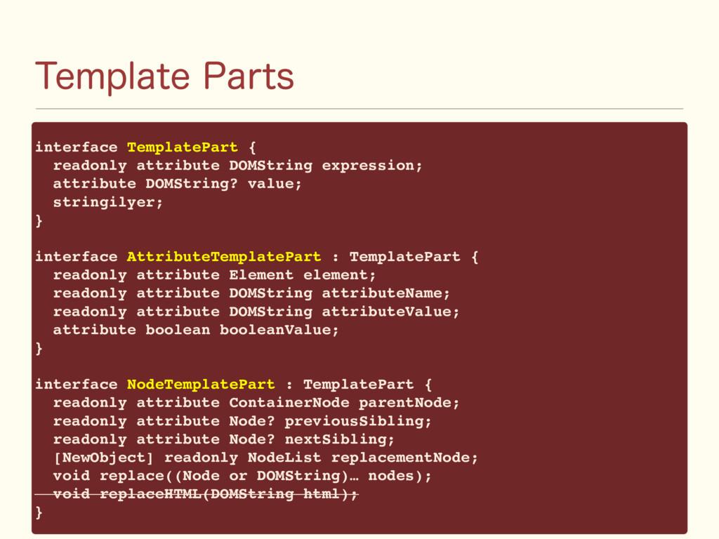 5FNQMBUF1BSUT interface TemplatePart { readonl...