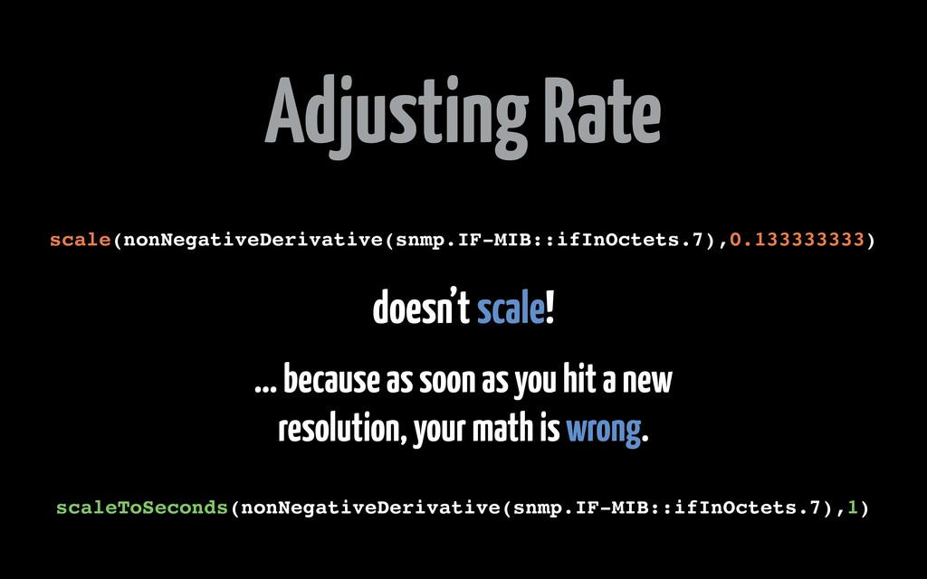 Adjusting Rate scale(nonNegativeDerivative(snmp...