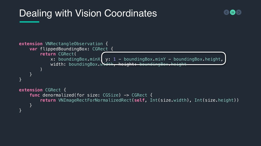 Dealing with Vision Coordinates 25 extension VN...