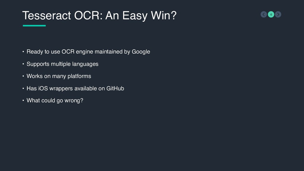 Tesseract OCR: An Easy Win? 6 • Ready to use OC...