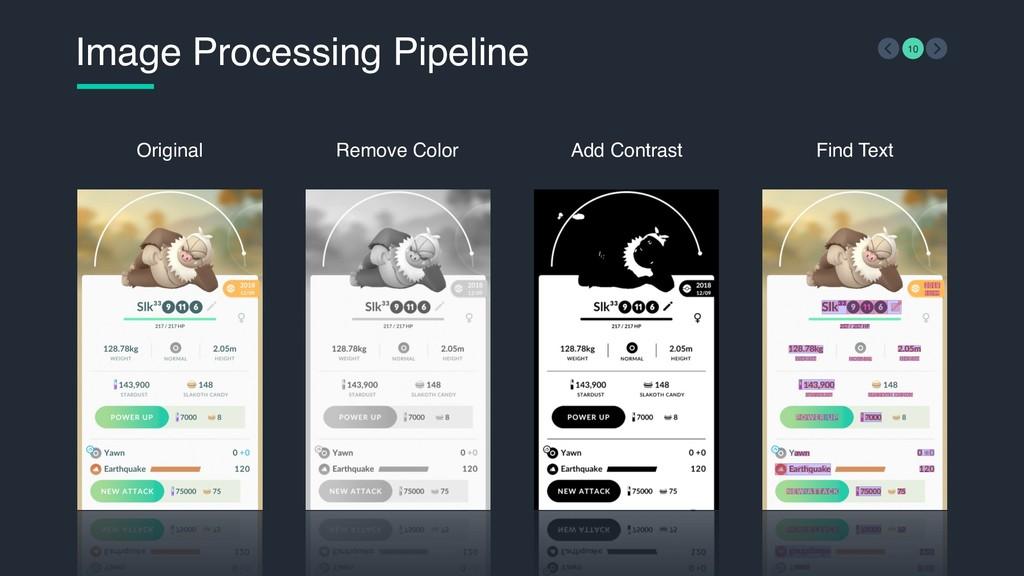 Image Processing Pipeline 10 Original Remove Co...