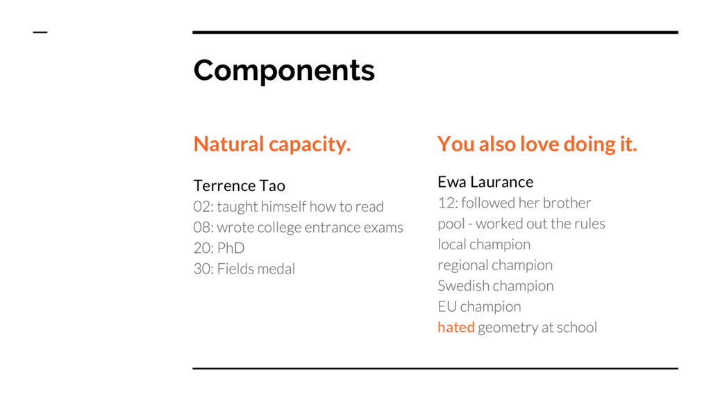Components Natural capacity. Terrence Tao You a...