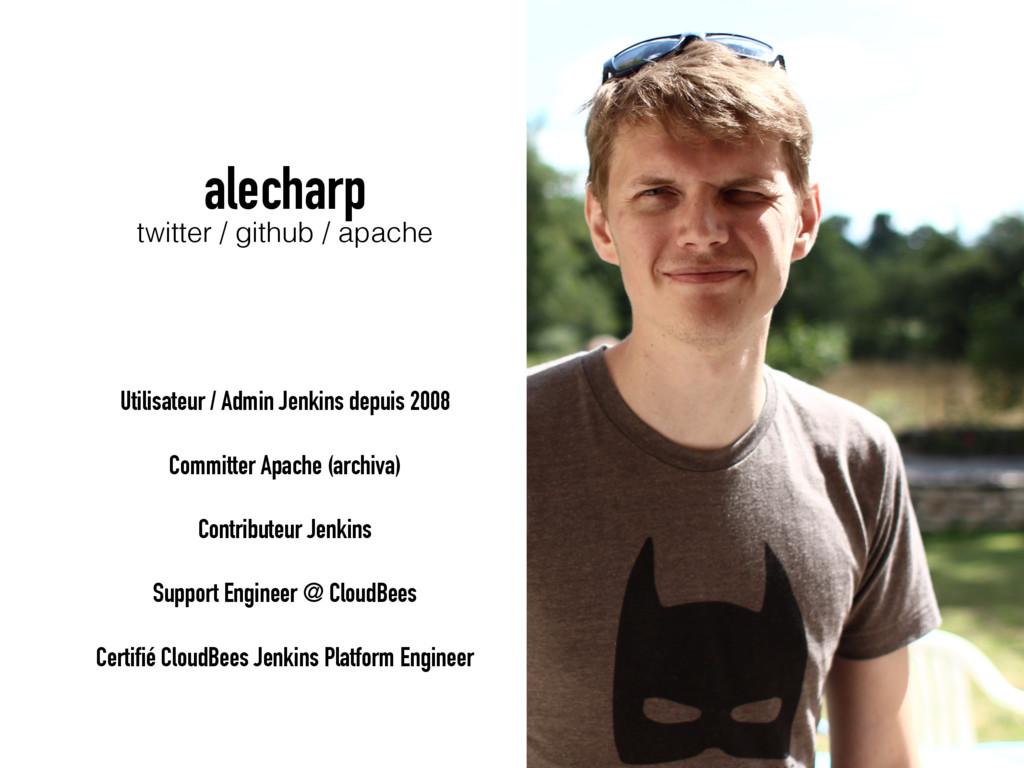 alecharp twitter / github / apache Utilisateur ...